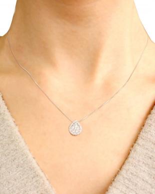 PT 天然ダイヤモンド 計0.5ct 36石 ペアシェイプデザイン プラチナネックレス [鑑別書付]を見る