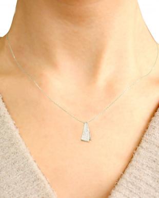 PT 天然ダイヤモンド 計0.2ct デザイン プラチナネックレスを見る