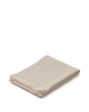 ホワイト/グレーアイボリー 日本製綿麻素材ボディケアタオル2枚・泉州産やわらかバスタオルアイボリー1枚のセットを見る