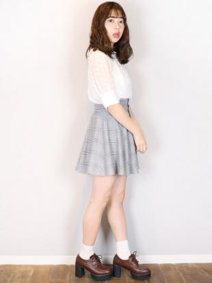 ミックス 【S】まえボタンミニフレアスカート dazzlinを見る