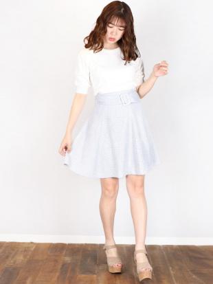 ブルー 【E】スプリングツイードスカート dazzlinを見る