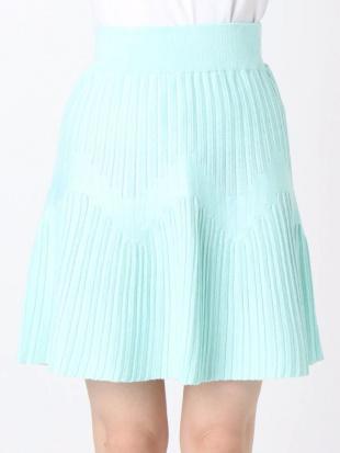 ミントグリーン 【S】ランダムプリーツニットマーメイドスカート dazzlinを見る