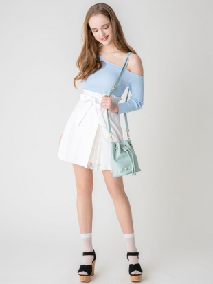 オフホワイト 【S】スリットプリーツダイケイスカート dazzlinを見る