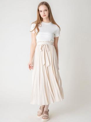 アイボリー 【S】シアープリーツロングスカート dazzlinを見る