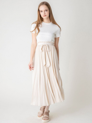 ピンク 【S】シアープリーツロングスカート dazzlinを見る