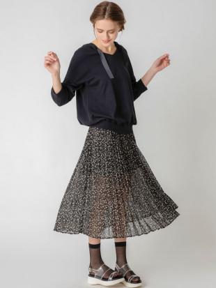 ブラック 【S】フラワープリーツスカート dazzlinを見る