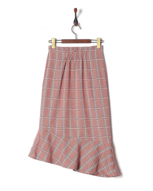 OR チェック柄ペプラムスカートを見る