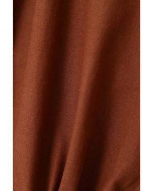 ブラウン コットンローン刺繍 2WAY羽織りワンピ ナチュラルビューティBを見る