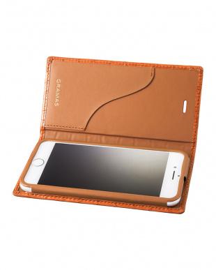 タン Croco Patterned Full Leather Case for iPhone 7/8を見る