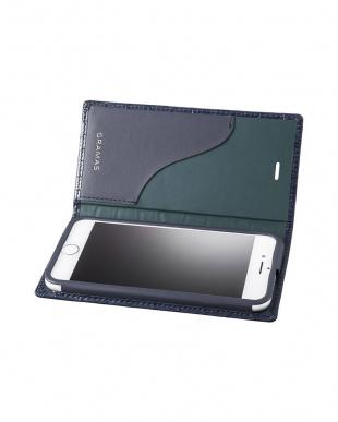 ネイビー Croco Patterned Full Leather Case for iPhone 7Plus/8Plusを見る