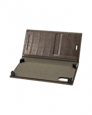 グレージュ EURO Passione Croco Book PU Leather Case for iPhone X/XSを見る