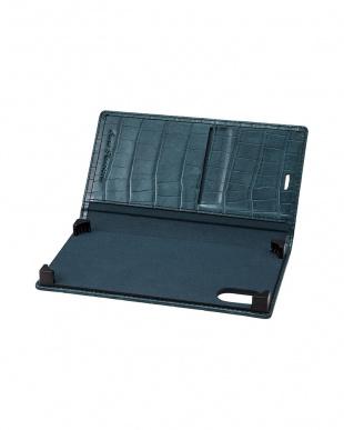 ネイビー EURO Passione Croco Book PU Leather Case for iPhone X/XSを見る