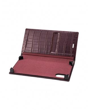 ワイン EURO Passione Croco Book PU Leather Case for iPhone X/XSを見る