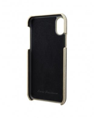 シルバー EURO Passione Shell PU Leather Case for iPhone X/XS Silverを見る