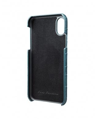 ネイビー EURO Passione Croco Shell PU Leather Case for iPhone X/XSを見る
