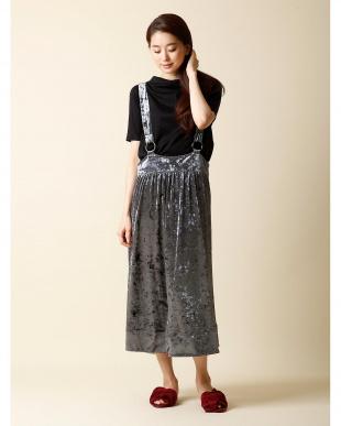 カラシ2 《WEB限定大きいサイズ》ベロアサロペットスカート CLEAR IMPRESSIONを見る