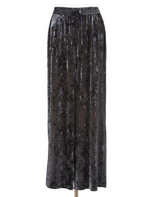 チャコールグレー3 シャイニーベロアワイドパンツ CLEAR IMPRESSIONを見る