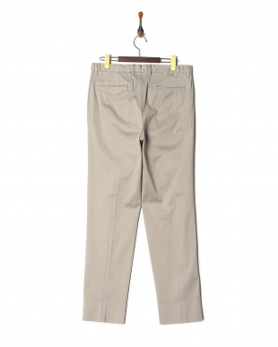 Light grey Ice cotton dobby wide tapered fitを見る