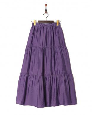 パープル ティアードスカートを見る