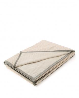 ベージュ 日本製シールガーゼ綿毛布を見る