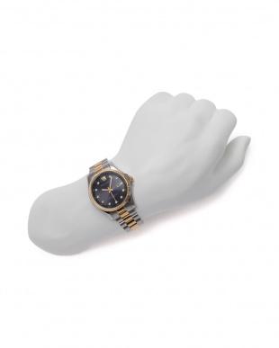 シルバー/ゴールド/ブラック 腕時計を見る
