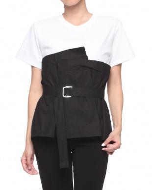 ブラック ドッキングデザインTシャツを見る