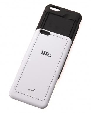 ホワイト モノトーンチェック柄 カードケース内蔵型iPhoneケースを見る