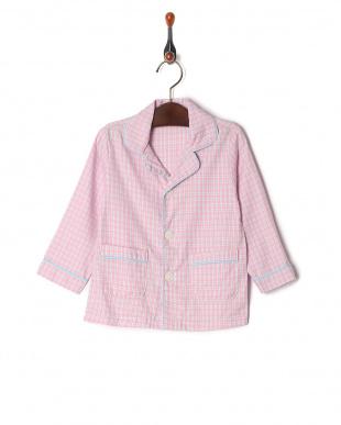 ピンク isookbaby ギンガムチェックパジャマを見る