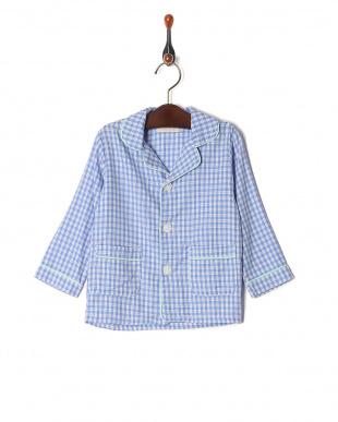 ブルー isookbaby ギンガムチェックパジャマを見る