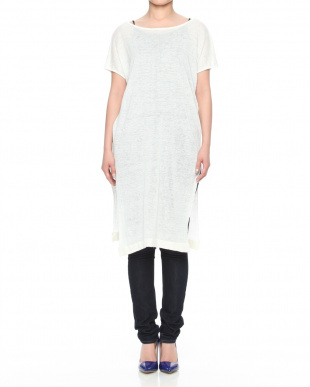 white French linen Slit tunicを見る