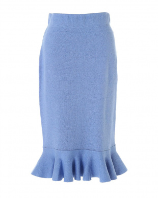 ブルー×ネイビー フォルムドニットマーメイドスカート アドーアを見る