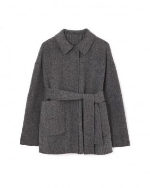 グレー リバーグレンチェックジャケットコート アドーアを見る
