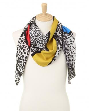 マルチ シルク クレイジーパターン レオパード 配色 スカーフを見る