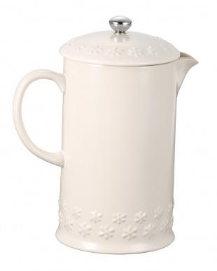 ホワイト コーヒー・プレス フラワーレリーフを見る