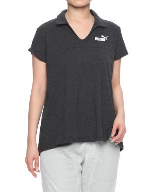 COTTON BLACK ESS+ オープンポロシャツを見る