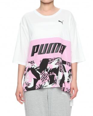 PUMA WHITE-PALE PINK MODERN SPORTS AOP SS Tシャツを見る