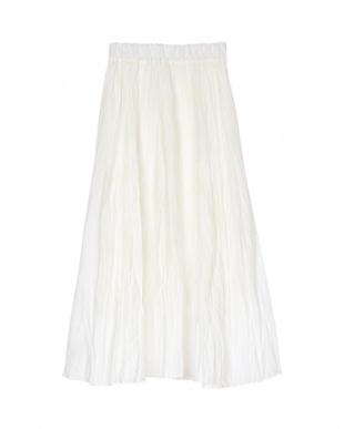 オフホワイト ワッシャープリーツスカートを見る