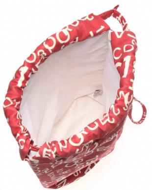 バイシーライン巾着バッグ REDを見る