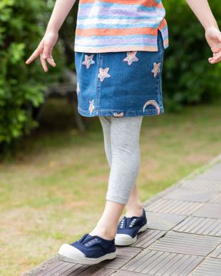 BLUE 星空刺しゅうデニムスカートを見る