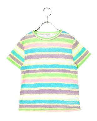 PINK ネオンカラーボーダーTシャツを見る