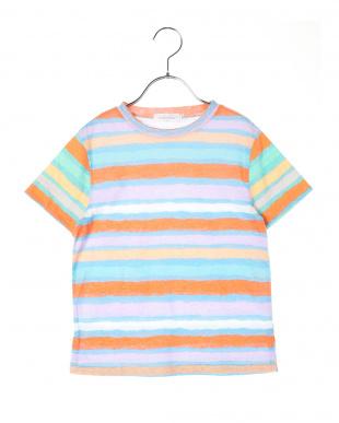 ORANGE ネオンカラーボーダーTシャツを見る