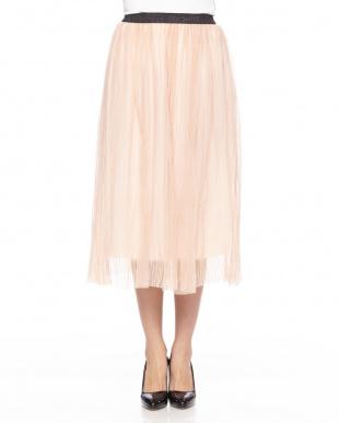 ピンク ラメプリーツスカートを見る
