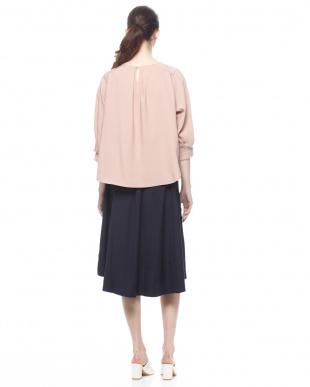 ピンク SETA3点ボリューム袖ブラウス+インナー+スカートを見る