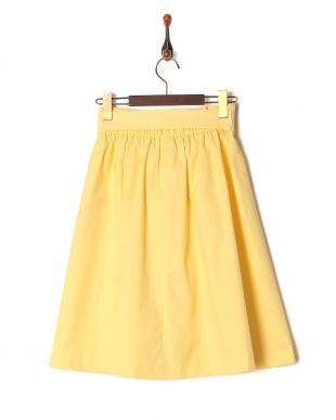 レモンイエロー [SS・LLサイズあり]リボンベルト付きフレアスカートを見る