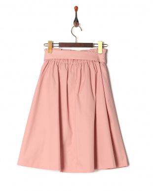 ピンク系 [SS・LLサイズあり]リボンベルト付きフレアスカートを見る