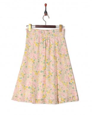 ベージュ系 [SS・LLサイズあり]フラワープリントスカートを見る