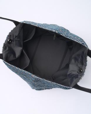 ブルー インディア トートバッグ ヨコを見る