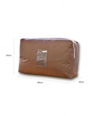 ブラウン 羽毛布団収納袋2~3枚入れ用 3枚組を見る