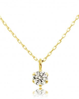 K10YG 天然ダイヤモンド 0.1ct 6本爪ネックレス & K10YG 計0.04ct 両耳プチ スタッドピアス[K10YG/2点合計0.14ct]を見る