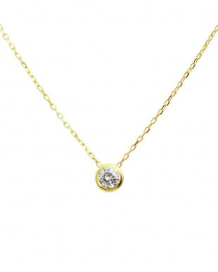 K10YG 天然ダイヤモンド 0.1ct フクリン ネックレス & K10YG 計0.04ct 両耳プチ スタッドピアス[K10YG/2点合計0.14ct]を見る